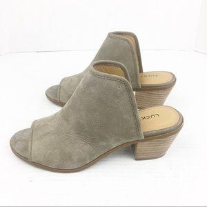 SZ 6 Lucky Brand Baldomero Mule Stacked Block Heel